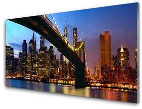 Nástenný panel Most mesto voda 125x50cm
