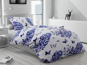 Bavlnené obliečky Butterfly modré