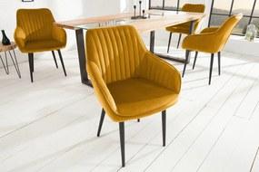 Bighome - Stolička NEAPOL - žltá