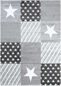 Detský kusový koberec Stars sivý, Velikosti 80x150cm