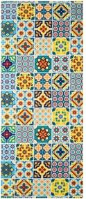 Vysokoodolný koberec Webtappeti Azulejo, 58×140cm