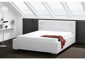 Čalúnená posteľ DAKOTA biela rozmer 160x200 cm
