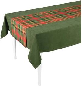 Zeleno-červený behúň na stôl Mike & Co. NEW YORK Honey Celebration, 40 × 140 cm