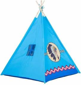 Ecotoys Detský indiánský stan Teepee, modrá