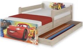 MAXMAX Detská posteľ MAX so zásuvkou Disney - AUTÁ 160x80 cm