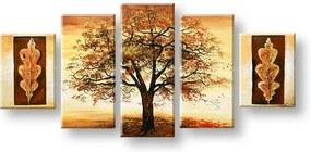 Ručne maľovaný obraz na stenu STROMY FB450E5