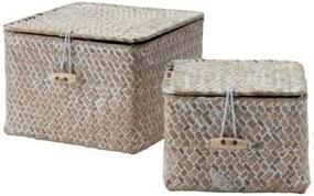0497d51aa Sada 2 úložných košíkov z rákosia Compactor Lidwhite