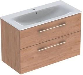 Kúpeľňová skrinka s umývadlom Geberit Selnova 100x50,2x65,2 cm v prevedení svetlý orech hickory 501.247.00.1