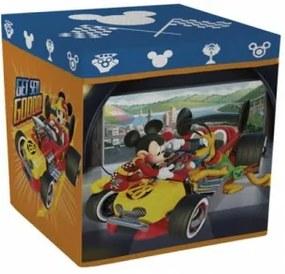 Úložný box s vrchnákom / taburetka  2v1 MICKEY MOUSE Racers ARDITEX MIC1830