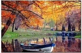 Tlačený obraz Romantické miesto pri jazere 2534A_1T