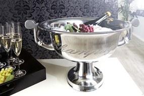Bighome - Chladič na víno CHAMPANE 40 cm - strieborná