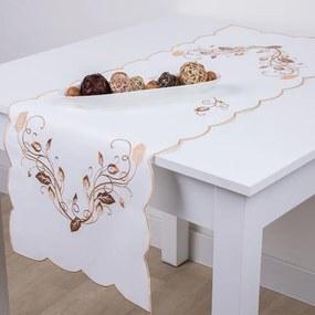 Obrus na stôl s výšivkou 40 x 110 cm