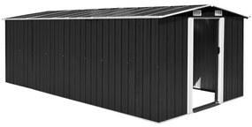 vidaXL Záhradná kôlňa 257x489x181 cm, kov, antracitová