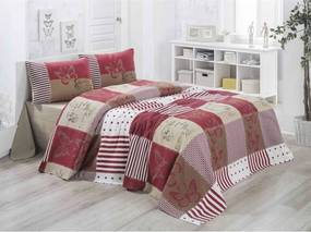 Ľahká prešívaná bavlnená prikrývka cez posteľ Victoria Butterfly, 160 × 230 cm