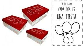 BAGGY Úložné / darčekové krabice 3ks FIESTA BAGGY BAG2997