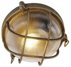 Nástenné a stropné svietidlo zlatá / mosadz okrúhle IP44 - Noutica
