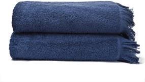 Sada 2 námornícky modrých osušiek zo 100% bavlny Bonami, 70 × 140 cm