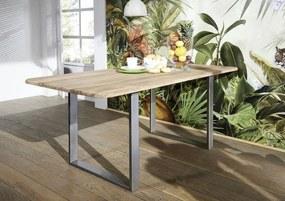 Masiv24 - MONTREAL Jedálenský stôl 160x90 cm - kovové nohy, palisander