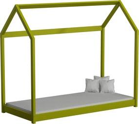 Detská posteľ Domček 180x80 zelená