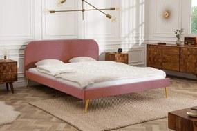 Manželská posteľ Lena 140 x 200 cm - staroružový zamat