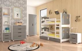 Detská izba s poschodovou posteľou šedá Aberdeen