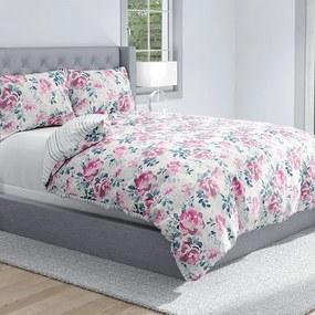 HOD Luxusné bavlnené obliečky ROSES DELUXE na zips 140x200cm