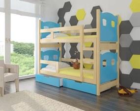 Detská poschodová posteľ so zábranou Hana - 01