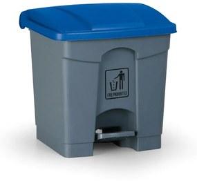 Pedálový viacúčelový kôš 30 litrov, modrá