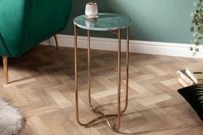 Odkladací stolík Tristen I 35 cm mramor zelený
