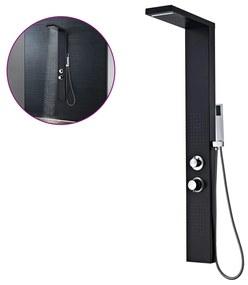vidaXL Hliníkový sprchový panel, matný čierny
