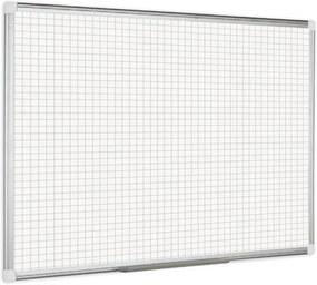 Bi-Office Biela magnetická popisovacia tabuľa s potlačou, štvorce/raster, 90x60 cm