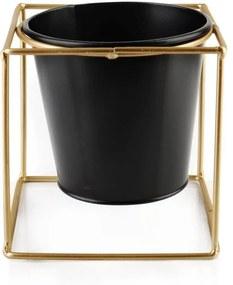 DekorStyle Květinový stojan Swen 11cm černý