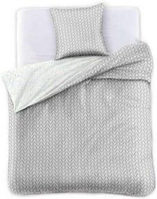 Obliečky na jednolôžko z bavlneného saténu DecoKing Herringbone, 135 × 200 cm