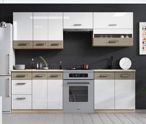 RENAR Kamala 240 kuchyňa dub samoa / cappuccino / biely lesk