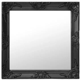 vidaXL Nástenné zrkadlo v barokovom štýle 60x60 cm čierne