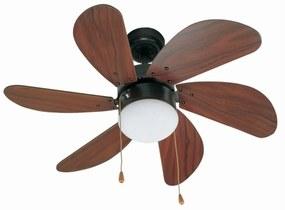 Stropný ventilátor Palao so svetlom, hnedé