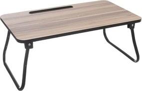 Orion Drevený servírovací stolík do postele s kovovými nohami