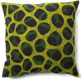 Čierno-zelená obliečka na vankúš La Forma Adila, 45 × 45 cm