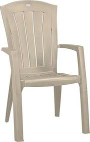 ALLIBERT SANTORINI záhradná stolička, 61 x 65 x 99 cm, cappuccino 17180012