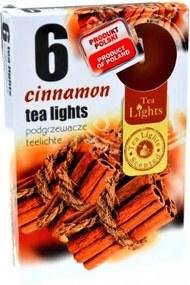 Sviečky čaj. 6ks škorica