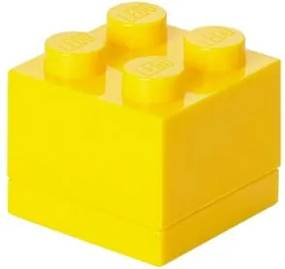 Žltý úložný box LEGO® Mini Box