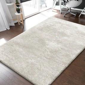 DomTextilu Nadčasový krémovo biely hustý chlpatý koberec 30765-159704