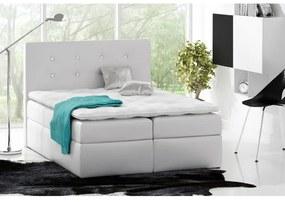 Kontinentálna posteľ Vivien I. biela eko koža 120 + topper zdarma
