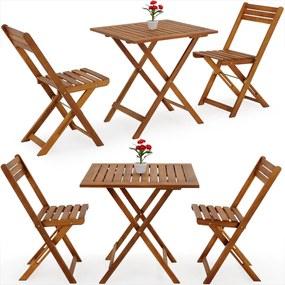Jurhan Balkónový nábytok, sedenie VITEK 2+1 z akáciového dreva