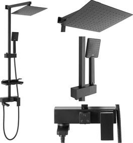 Rea Jack - sprchový set s otočným vaňovým výtokom, čierna, REA-P7009