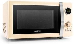 Klarstein TK49-Fine-Dinesty-Cr, 1000 W, 23 l, 2 v 1 mikrovlnná rúra, retro, 12 p
