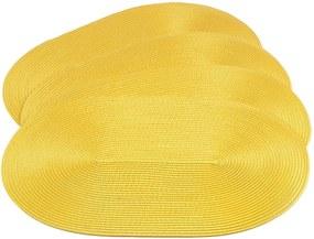 Jahu Prestieranie Deco ovál žltá, sada 4 kusov, 30x45 cm