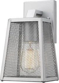 ACA DECOR Vonkajšie nástenné retro svietidlo Lantern Nyx 2 Silver IP44