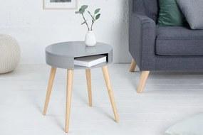 Okrúhly drevený nočný stolík Scandinavia Ø 45 cm »