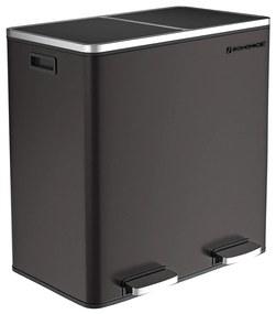 Rongomic Odpadkový koš Rubax 2x30L černý